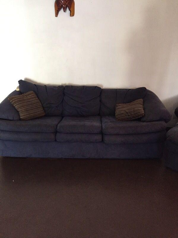 3 Piece Blue Micro Suede Living Room Furniture Furniture In Tampa FL Off