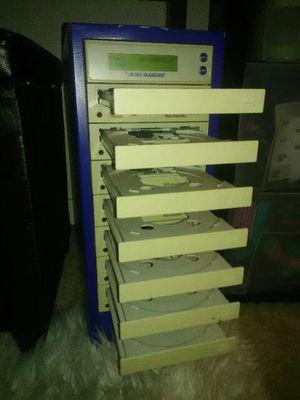 7 disk CD burner