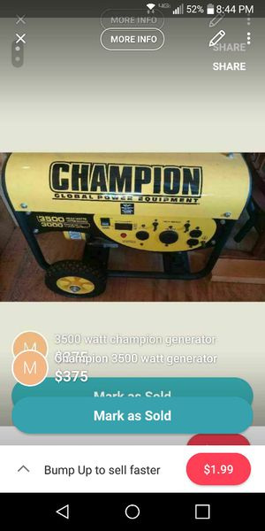 Champion generator 3500 watt