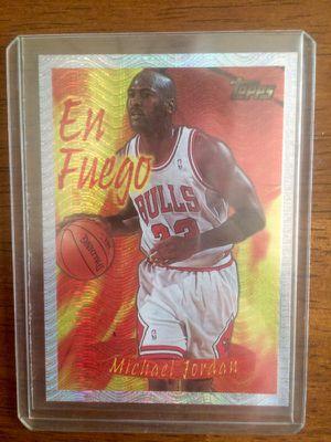 Michael Jordan Topps En Fuego Basketball Card