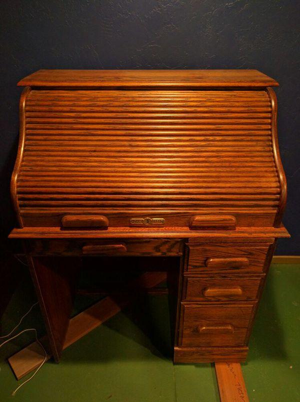 Oak Crest Roll Top Desk Furniture In Alameda CA OfferUp - Crest furniture