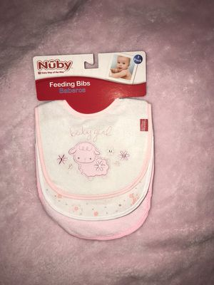 Pack of 3 Nuby Feeding Bibs