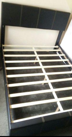 Brand New Full Size Leather Platform Bed Frame