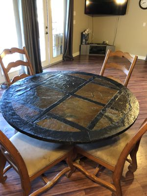 Slate Top Dining Room Table