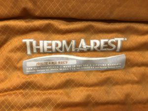 Thermarest sleeping pad just in time for camping season!