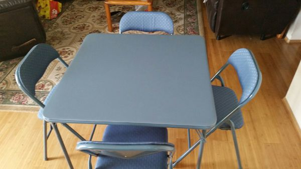Five Piece Folding Table And Four Chairs Set Furniture In Monroe Wa