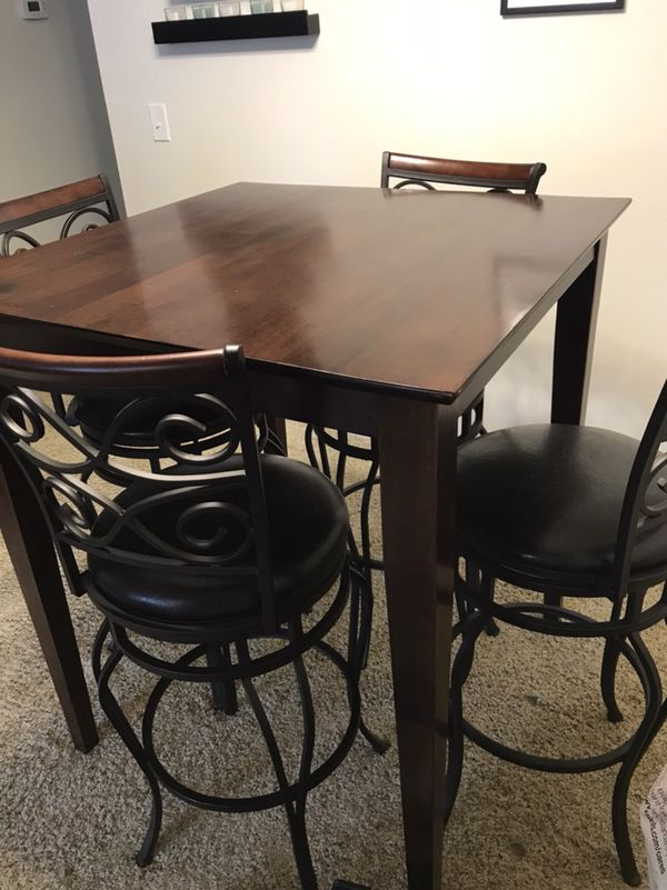 Dining Table And Chairs Bar Height 41 Tall 36 L
