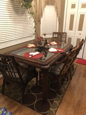 Dining Room Set Plus Leaf And Two Bar Stools 6 Chaired Asking