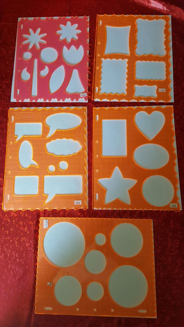 3. Scrapbooking fiskars shape templates (Arts & Crafts) in Perris, CA