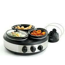 Farber Ware 3 Crock Round Slow Cooker For Sale