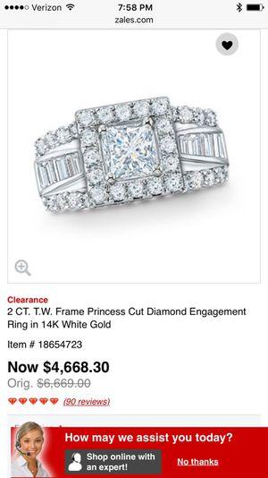 Gorgeous princess cut engagement/ wedding ring set!