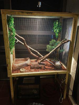 Custom built reptile cage