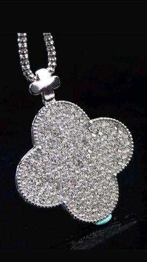 Bestey Johnson Crystal Fancy Clover Necklace