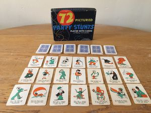 Vintage 1935 Game-72 Pictured Party Stunts
