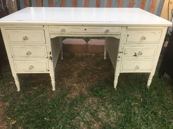 vintage office desk. Authentic Vintage Antique Hollywood Office Furniture Co Real Shabby Chic Desk Solid Wood-pickup Tonight!!!!!!!!!! (Furniture) In San Diego, CA