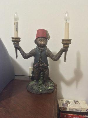 Bellhop monkey lamp