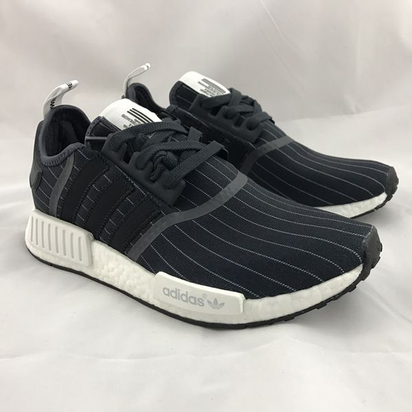 Humanized Adidas Originals NMD R1 STLT 2018 Triple Black Men's