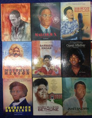 Black Heroes and Black Americans of achievement (30) books