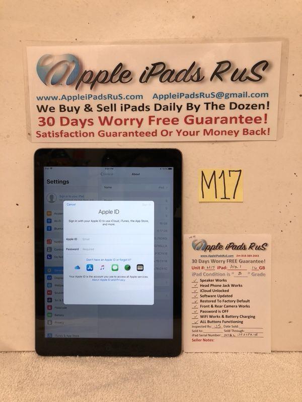 M17 - iPad Air 1 16GB