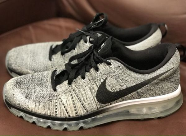 Nike Flyknit Air Max Oreo Black White men size us 12