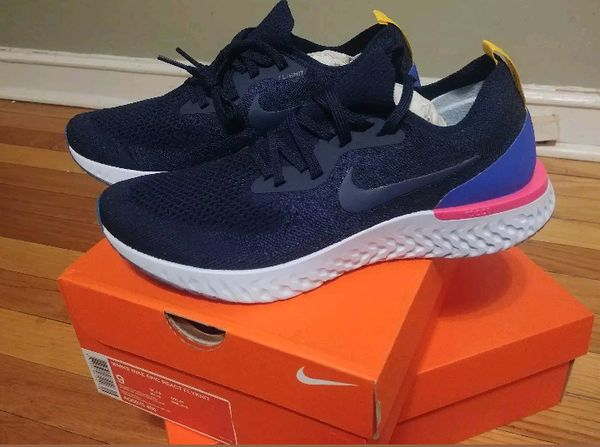 AUTHENTIC Nike Epic React Flyknit College Navy Racer Blue Women sz 9  (Clothing & Shoes) in Lancaster, PA