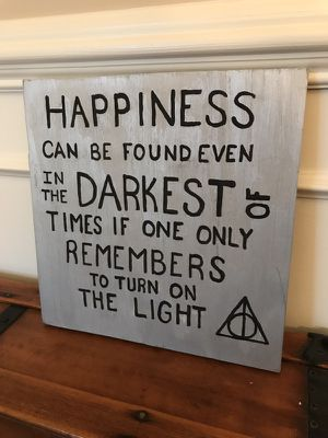 Harry Potter Quote On Wood; Hand Painted